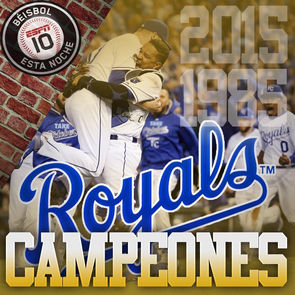 Los KANSAS CITY ROYALS son los campeones de la temporada 2015. Segundo título en su historia