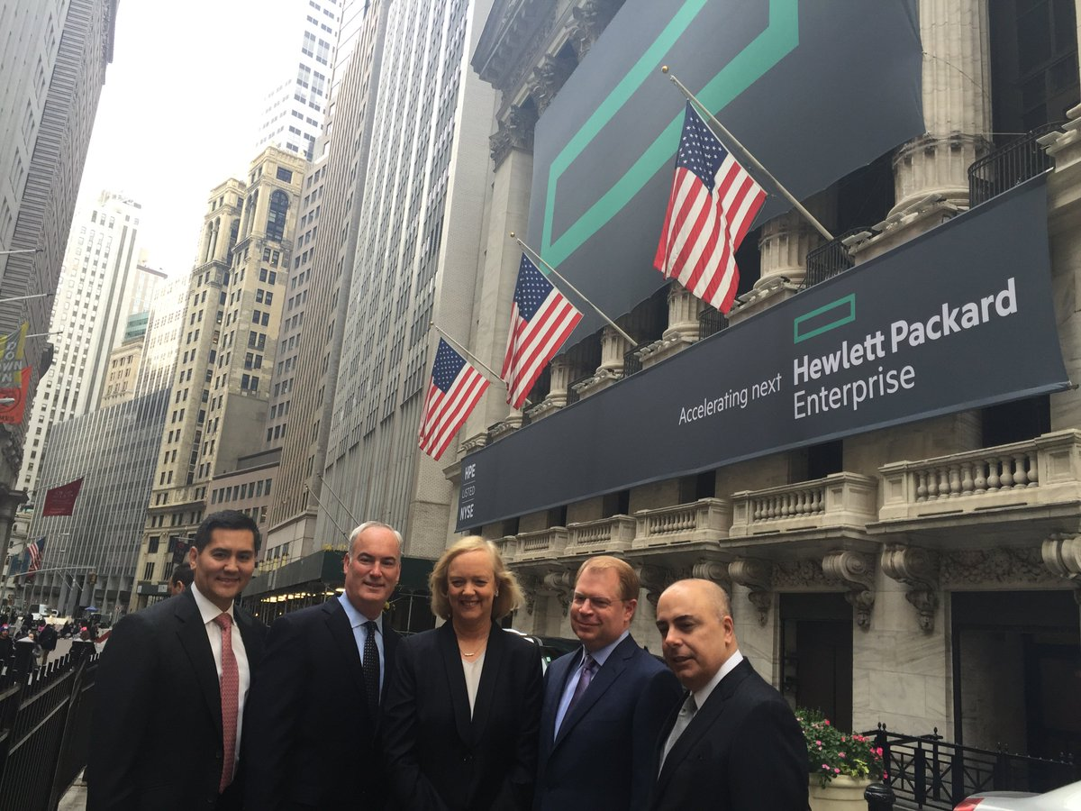 Heading to the @NYSE to ring the opening bell & kick off the launch of the #newHPE. https://t.co/V6CRjgB1PP