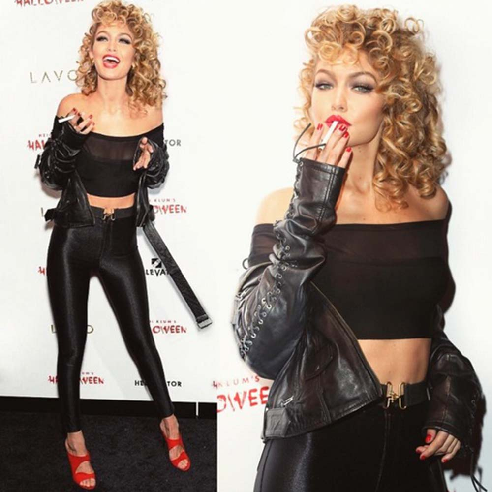 af2d0d3170705 we ve got chills looking at gigi hadid s sandy from grease costume for  halloween
