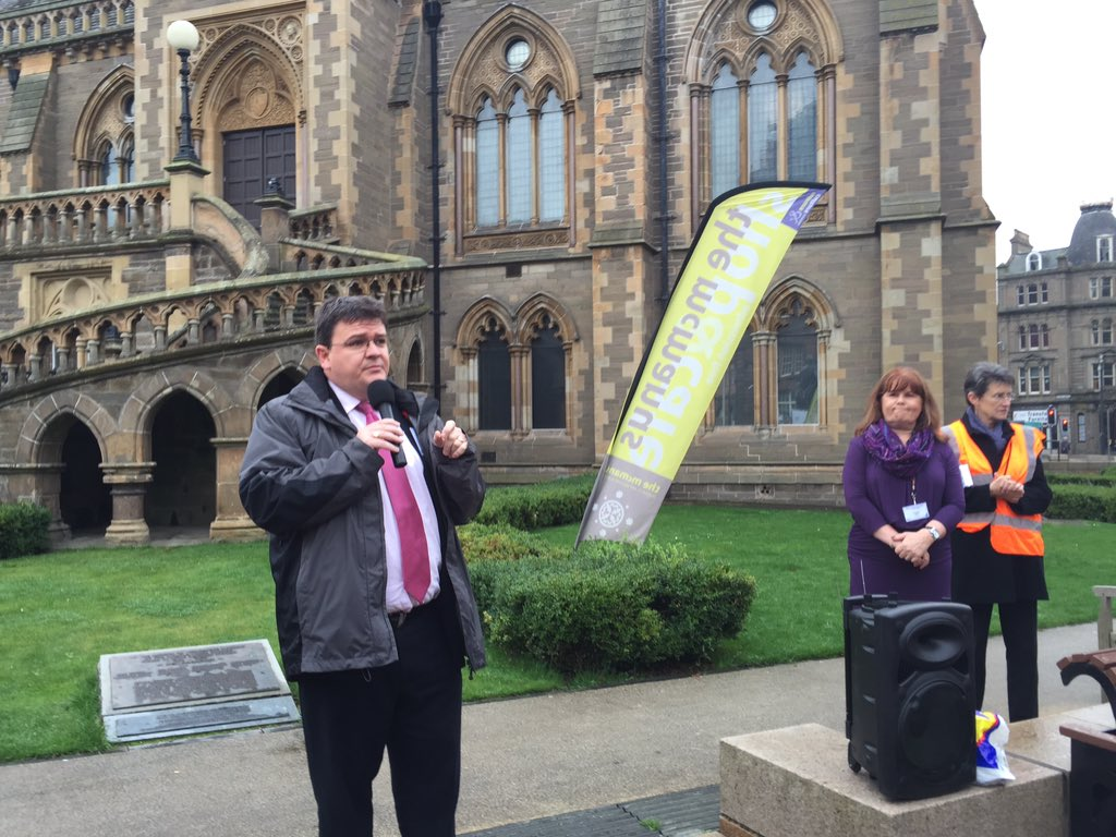 . @rbmccready addresses #TUBill rally at #stucwomen15 - Dundee City Council joins others to refuse to comply https://t.co/rmea3IHgdN