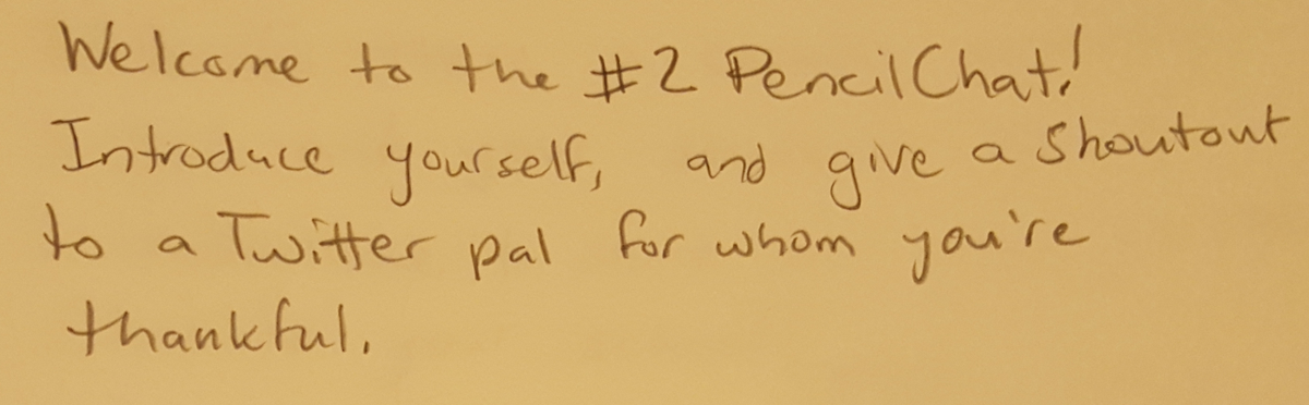 Welcome to the #2PencilChat! Check the pics for questions tonight! #2PencilChat https://t.co/M6EScyFvtP
