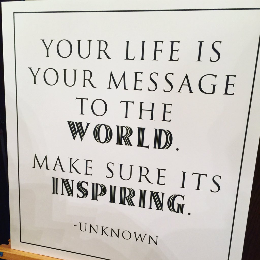 """Your life is your message to the world. Make sure it's inspiring."" #Livethedream #ummacenter https://t.co/jOHhzVHVBL"