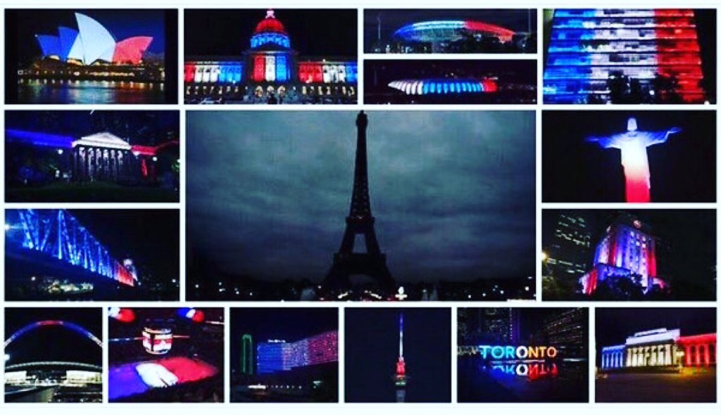 When #Paris turned out it's lights, the rest of the world turned them on https://t.co/BLg5wFppOV