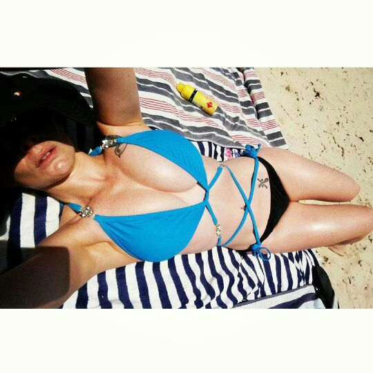 Candice Elizabeth  - Beach day wi twitter @Candiceelizabth breakfastclub,beach,selfie,bikini,bikinis