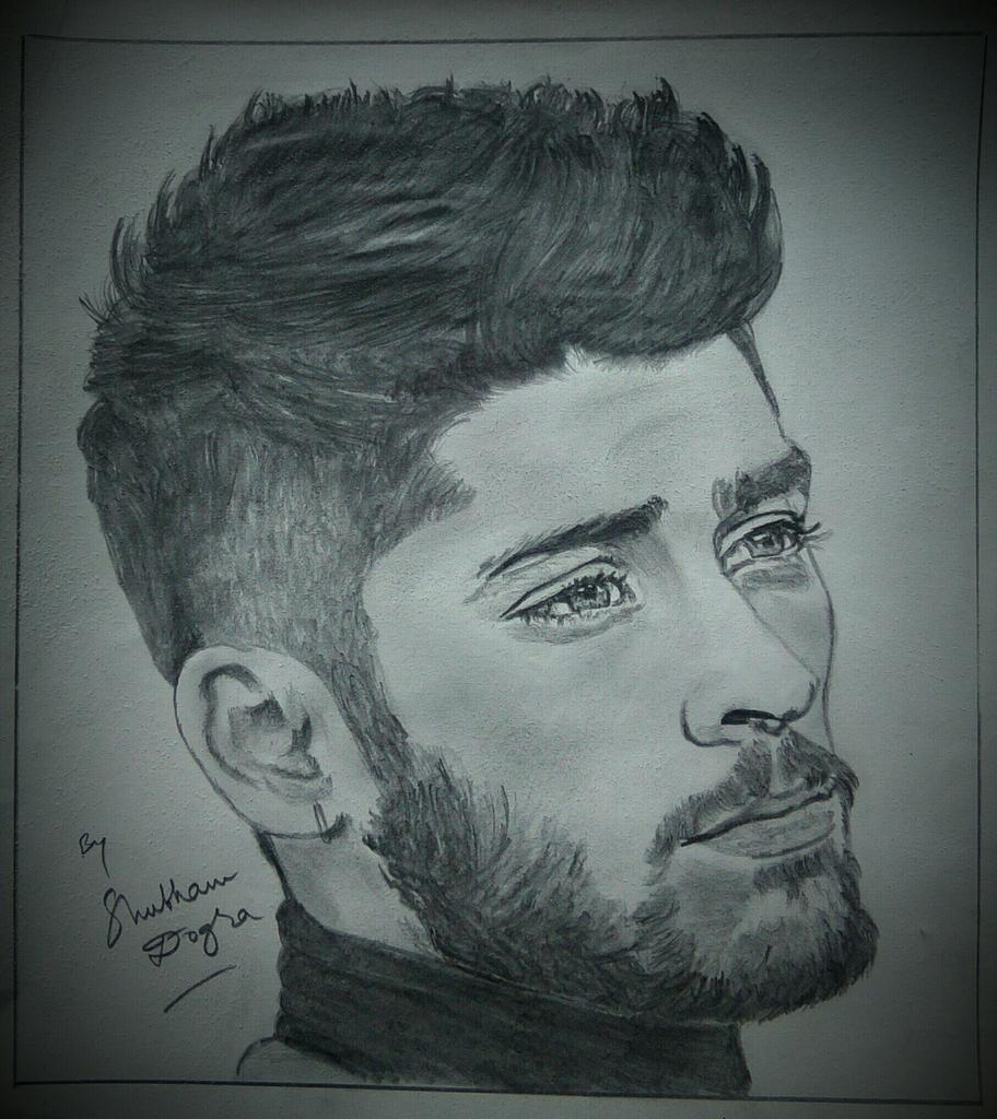 Msdfan shubham dogra on twitter pencil sketch of zaynmalik drawn by me would you show it to zayn ask1d https t co gsp6luoi5p