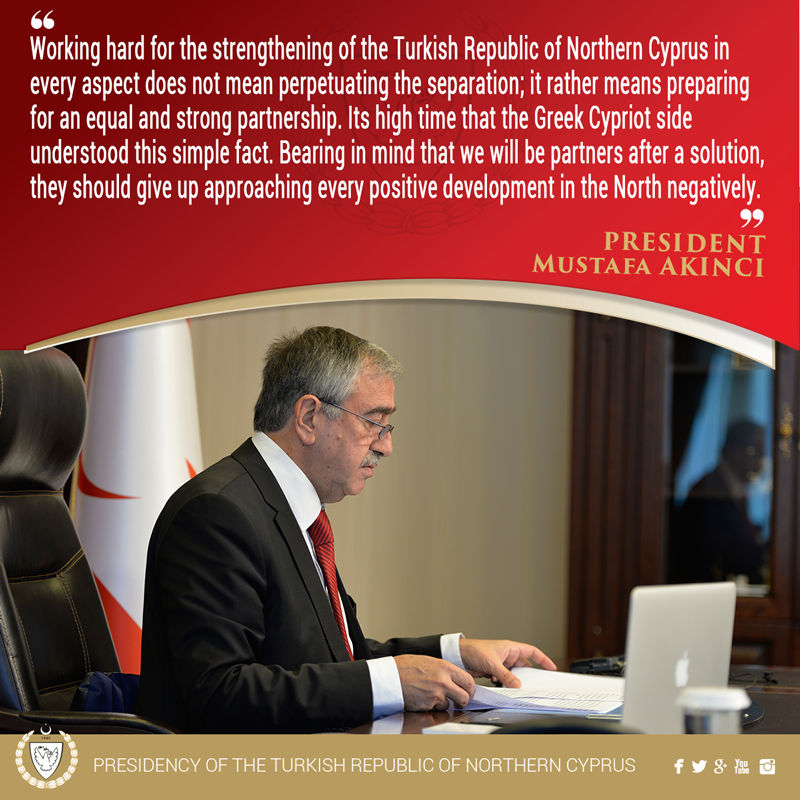 From President AKINCI's speech at the ceremony of the TRNC`s 32nd establishment anniversary https://t.co/IWyMVfLnva