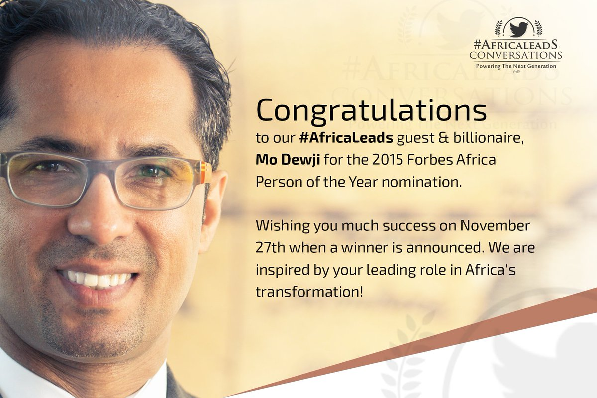 AFRICA LEADS: All the best @moodewji  #AfricaLeads