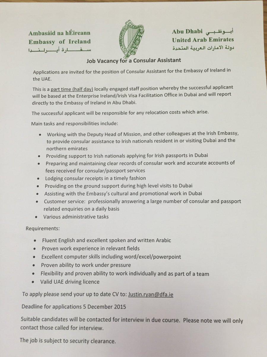 Irish Embassy UAE on Twitter: