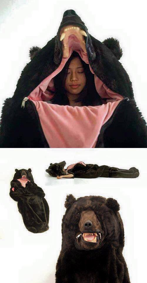 欲しい!!! くまの寝袋だと…Σ( ̄。 ̄ノ)ノ まるで冬眠…