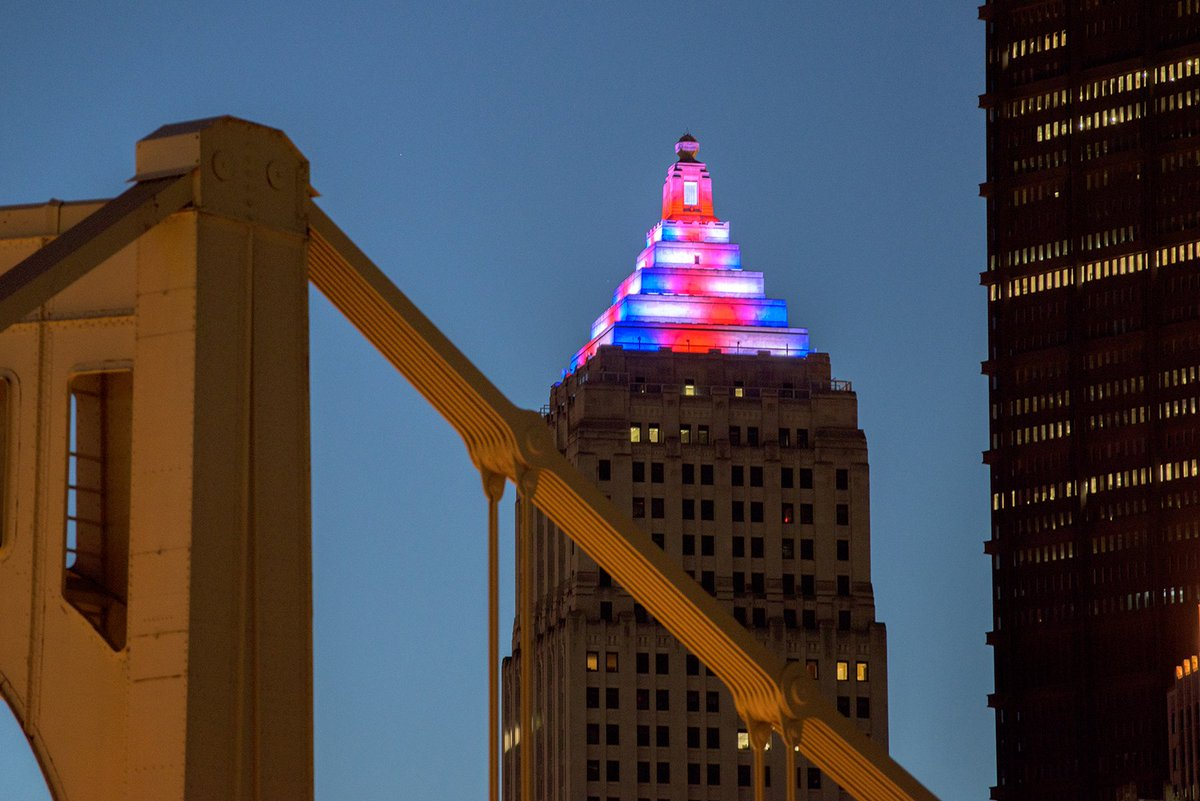 Dave Dicello On Twitter The Gulf Tower In Pittsburgh Glows Red