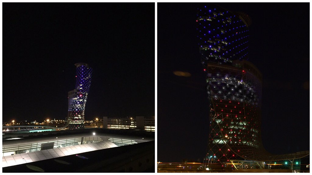 UAE stresses importance of moderation and non-violence. Illuminates #CapitalGate as sign of solidarity with #France https://t.co/HLvCgBhK5i