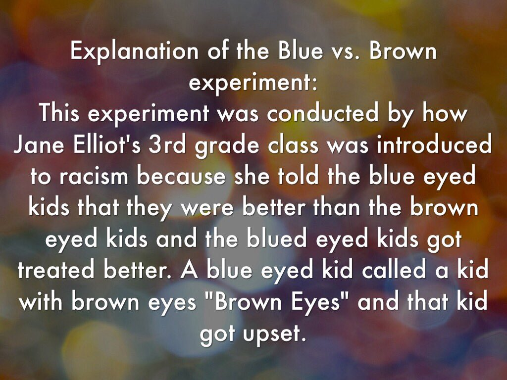 blue and brown eye experiment