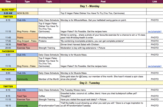 Hootsuite on Twitter In need of a social media editorial – Social Media Calendar Template