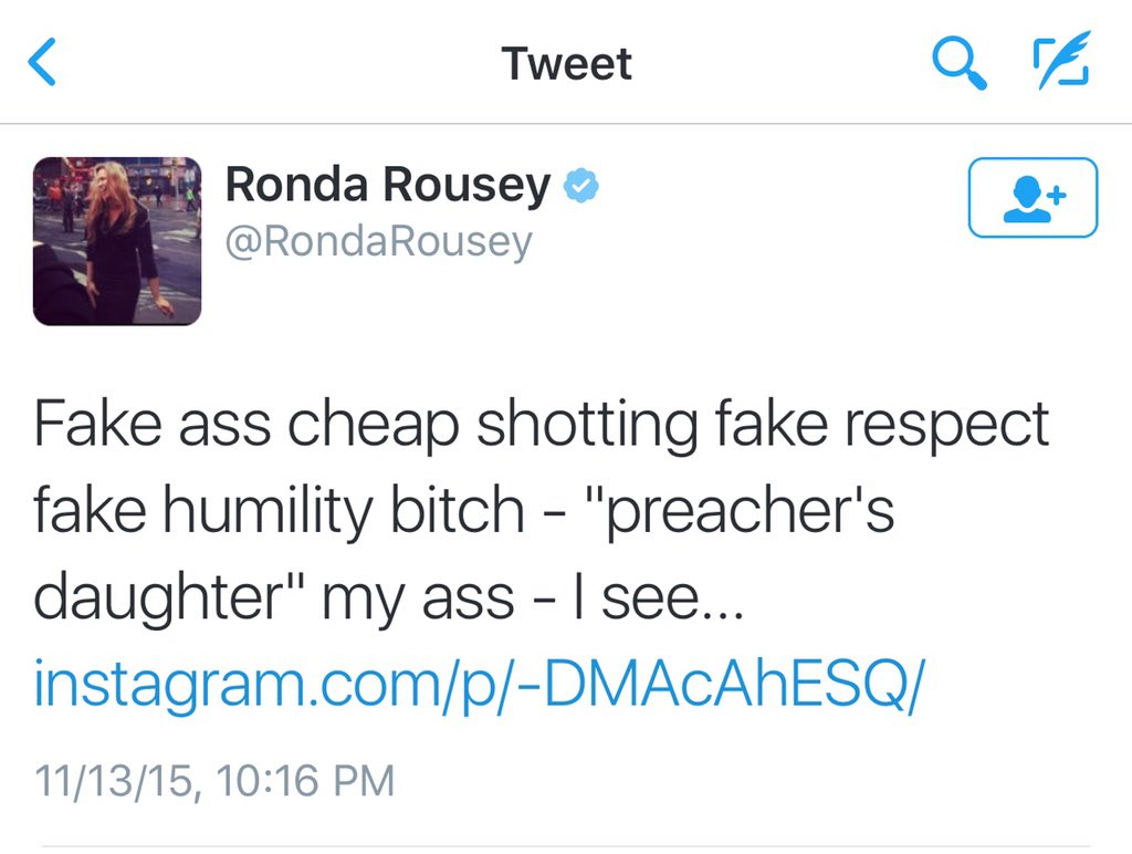 File this under #FamousLastTweets  #RondaRousey #UFC193 https://t.co/rXcHgF1X9W