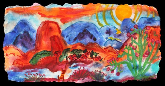 Phyllis Kapp's ecstatic watercolors never fail to elevate and inspire. https://t.co/Ha0gFN0Rr5 https://t.co/N77UVRoMn6