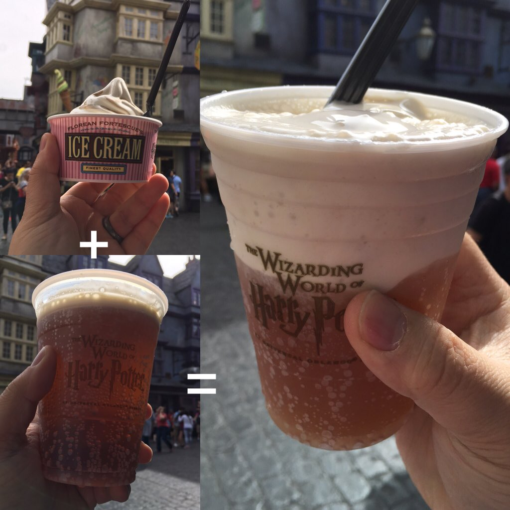 Butterbeer™ Ice Cream + Butterbeer™ = Butterbeer™ Float. I CAN SEE THROUGH TIME #UniversalMoments #HarryPotter https://t.co/oKjFlBzfxh