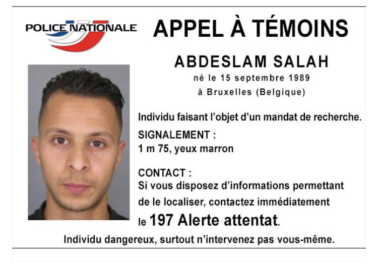 This is the man on the run and wanted by French Police in connection with Paris attacks https://t.co/M9jIIhy0FT