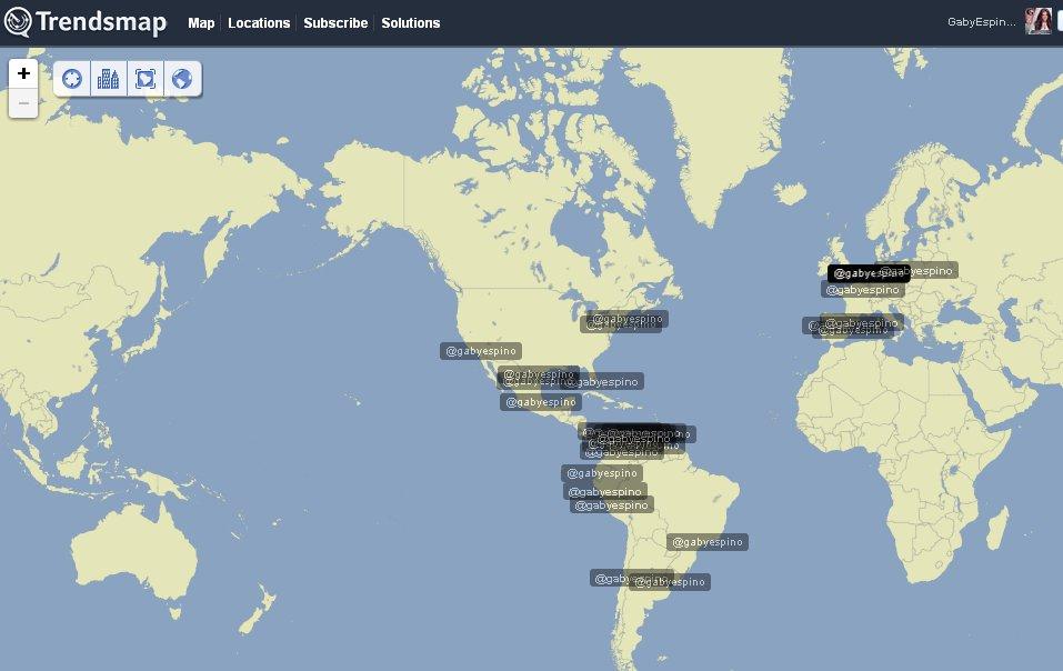 .@gabyespino trending hasta en Paris, Barcelona, Sao Paulo, Warsaw, NY, LA y mucho mas #FelizCumpleGabyEspino https://t.co/xrQNB81Yb5