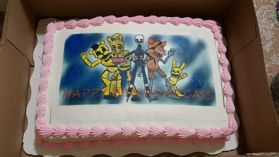 Spookahauntus On Twitter Birthday Fnaf Horror Cake Decor