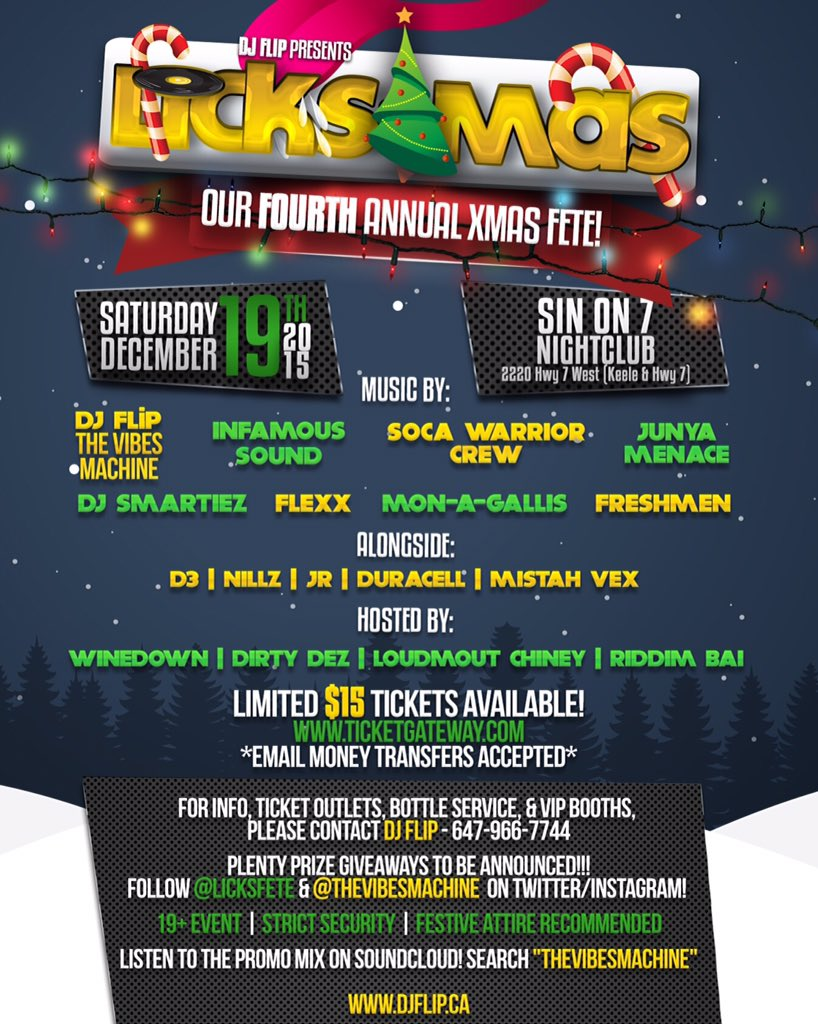 PROMO MIX: https://t.co/2yD5x9czDm  TICKETS: https://t.co/Un2HDJdKyx  FB EVENT: https://t.co/9WlnsZ7fUp  #LICKSMAS https://t.co/ji1JxUPhVk