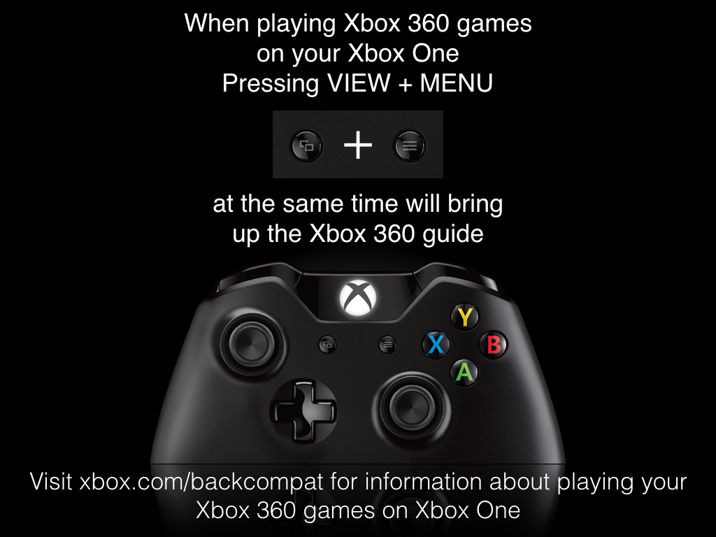 how to open xbox 360 menu on xbox one