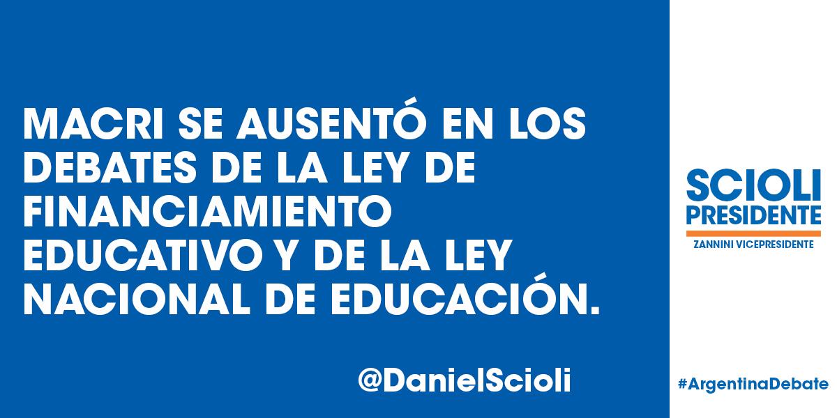 Para Macri la educación no es una prioridad* #ArgentinaDebate https://t.co/g9xWNQ2TSs