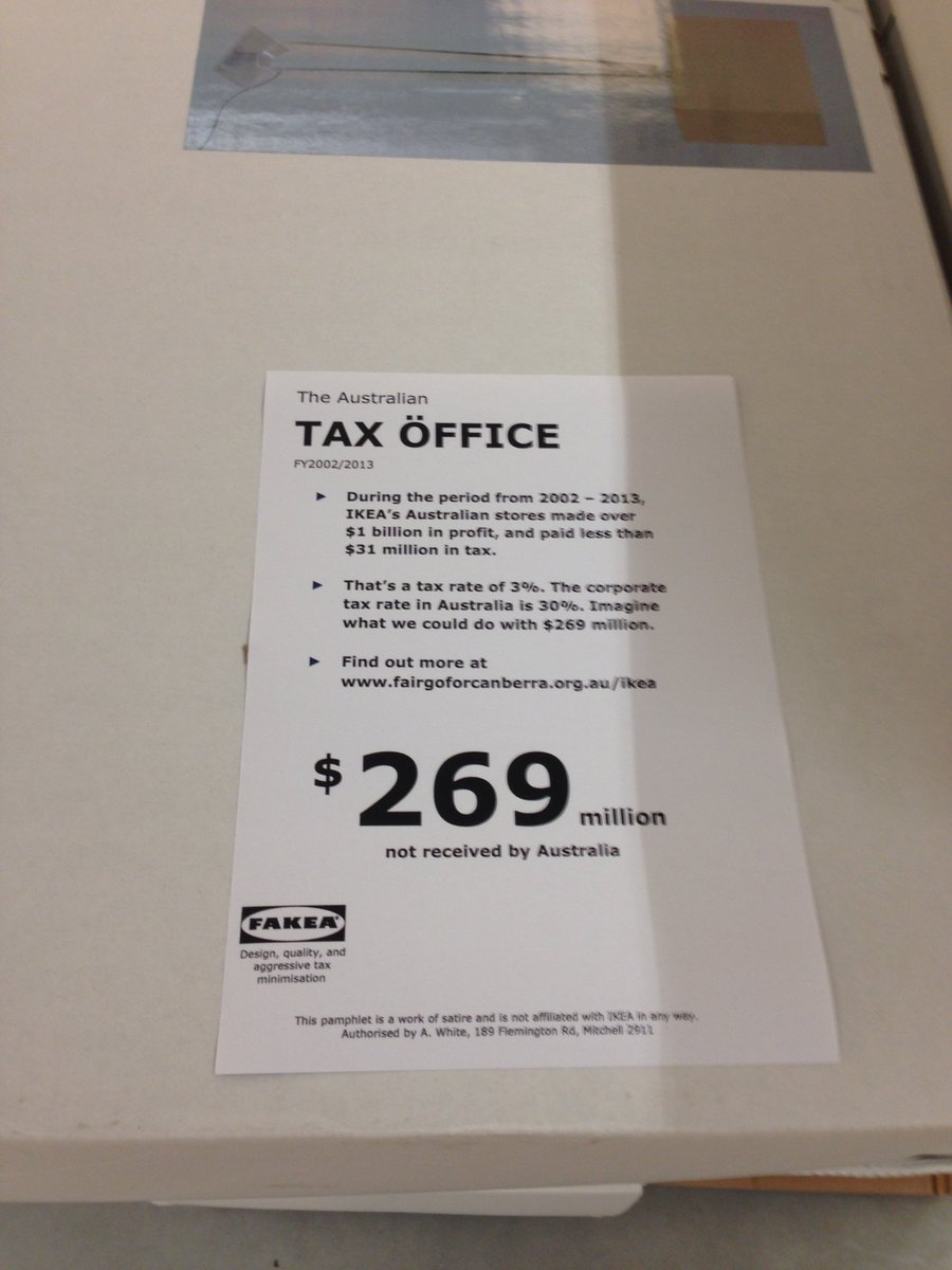 Meanwhile, someone is leaving these around Ikea #auspol https://t.co/VHDpirHQ4a