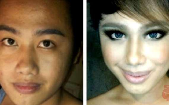 видео до макияжа и после макияжа фото