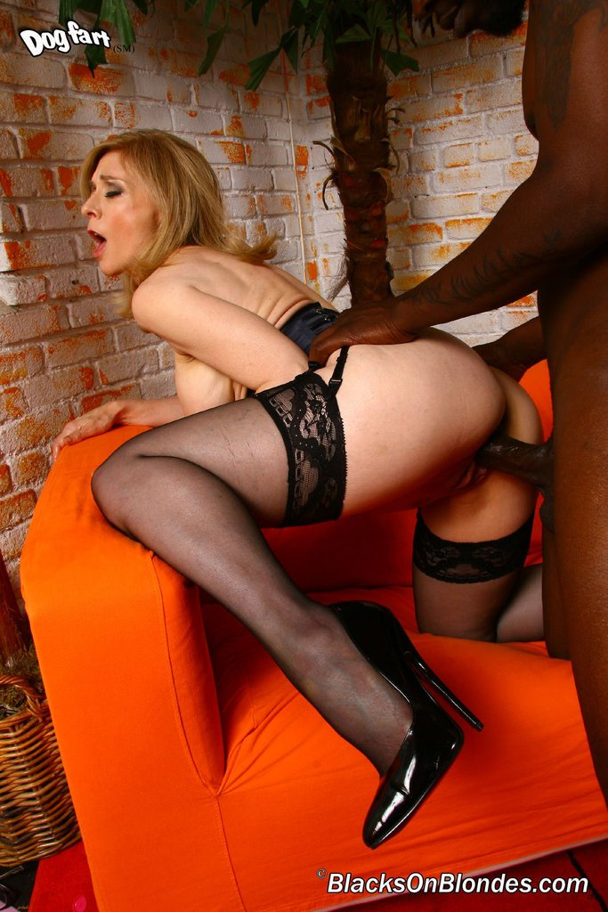 blonde hartley stockings nina Mature black