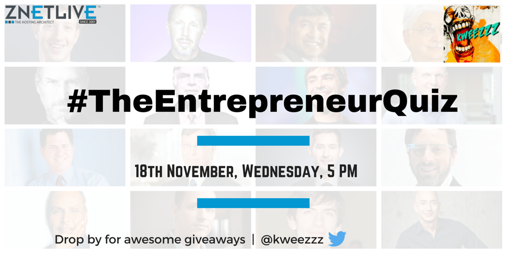 Interested in Startup ecosystem? Test your knowledge at #TheEntrepreneurQuiz by @ZNetLive_Host this Wednesday 5 PM! https://t.co/1MG0rZTTtu