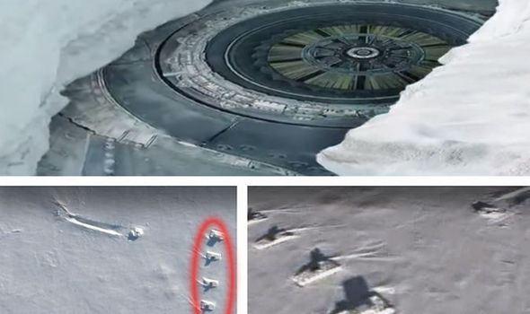 UFO VIDEO: prova definitiva di un relitto alieno abbattuto in Antartide.