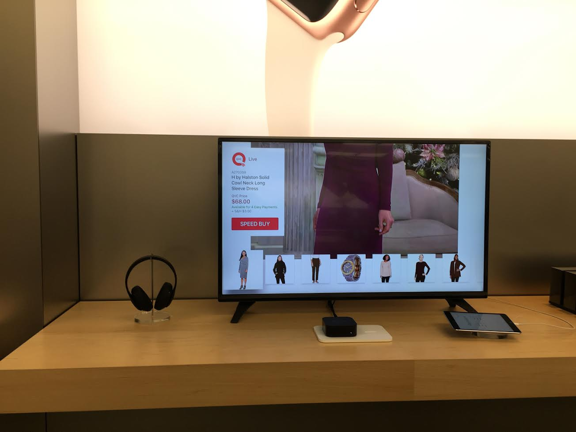 Hey @axonista @daraghward, I spotted the QVC Apple TV app you guys made on demo devices in Apple's retail stores :-D https://t.co/BdOZYvUSwg
