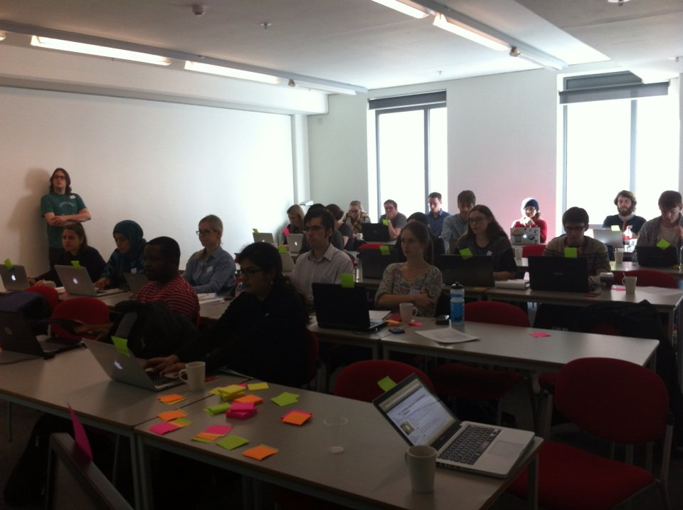 All stickers are green at #codima2015 :) https://t.co/lPHQKCYnQc
