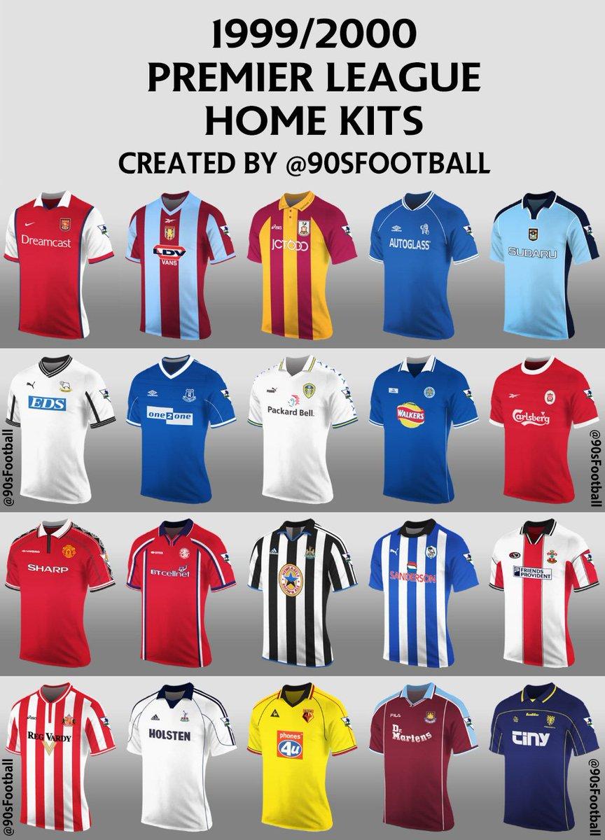 newest 8b411 e653b 90s Football on Twitter: