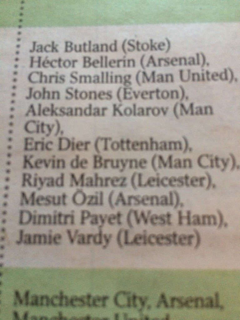 In today's Times our writers answer Qs on PL season so far. Here's my team of season to date http://www.thetimes.co.uk/tto/sport/football/article4614797.ece…