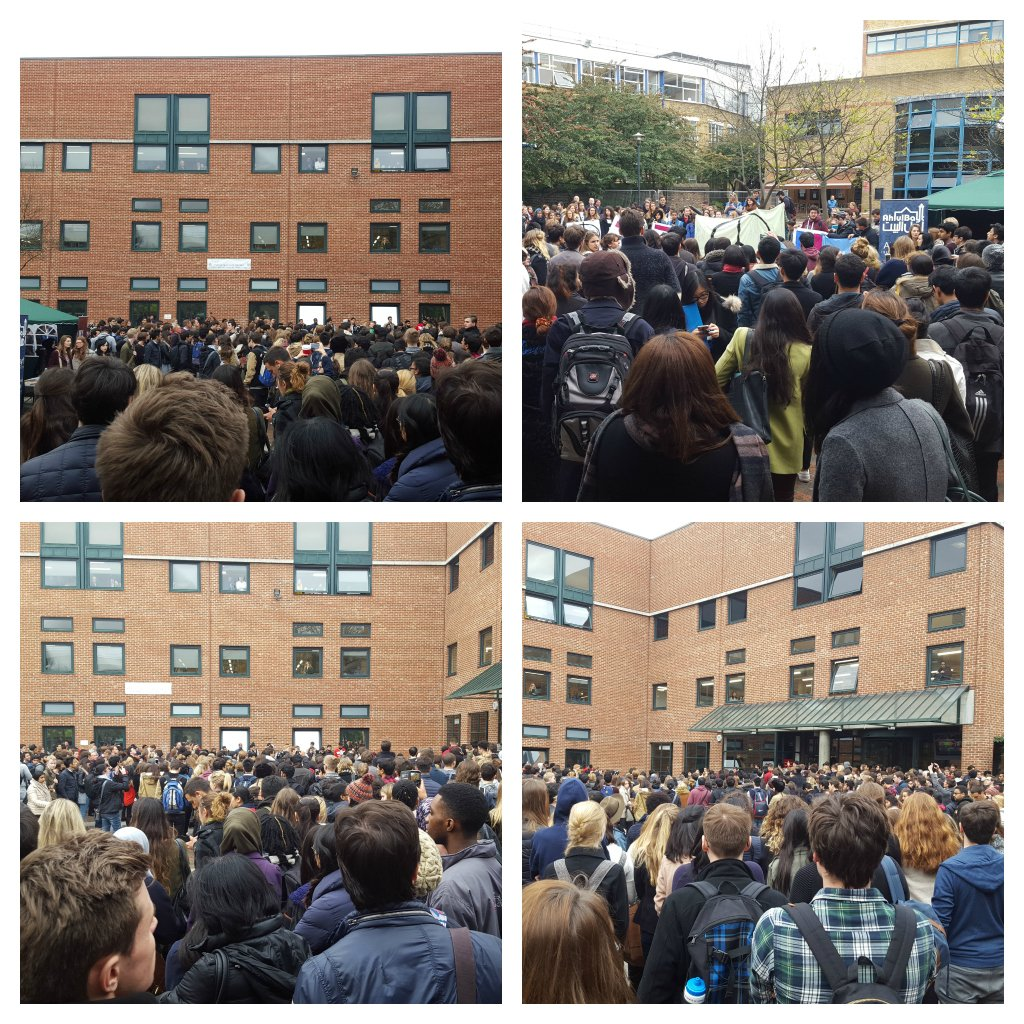At midday, the QMUL community held a minute's silence to remember those affected by the attacks in Beirut and Paris. https://t.co/V7klvt8l6E