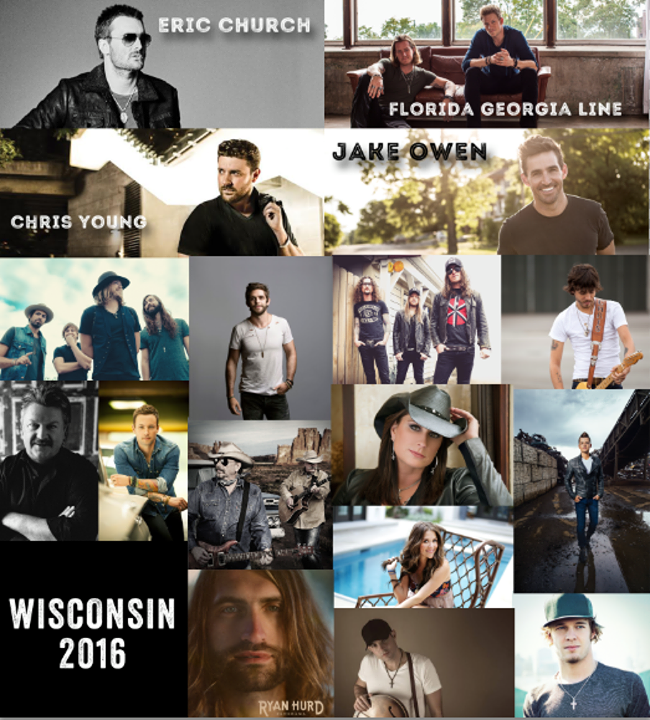 WISCONSIN FANS! Florida Georgia Line, Jake Owen, and Chris Young are joining Eric Church a… https://t.co/T2VNqNY8Dy https://t.co/tCdhzrg1Ug