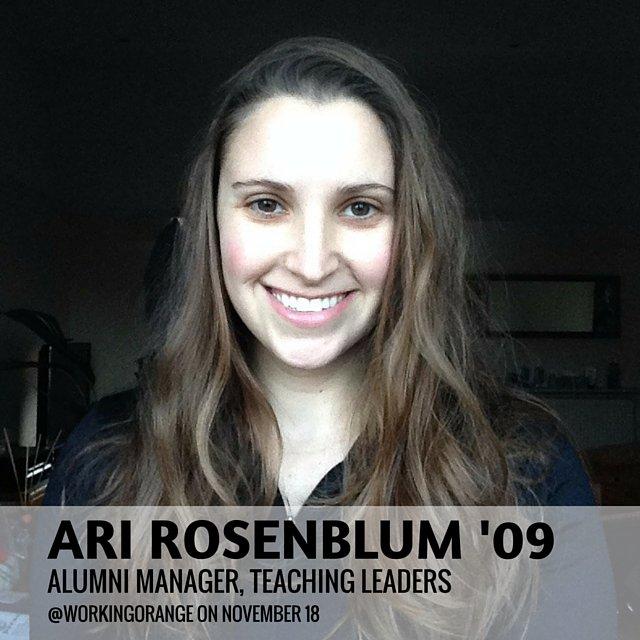 Thumbnail for @AriRosenblum takes over as a @WorkingOrange, 11/19/15