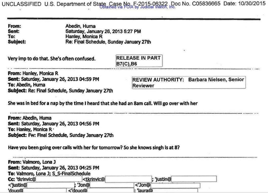 NEW Huma Email: Hillary 'Often Confused' https://t.co/G1gXNXDRve https://t.co/RFjXINDg38