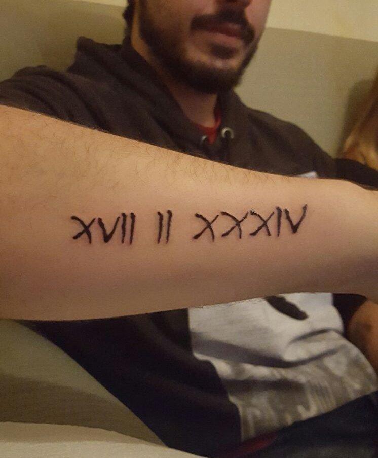 Escardi On Twitter Nuevo Tatuaje Terminado La Fecha De Nacimiento