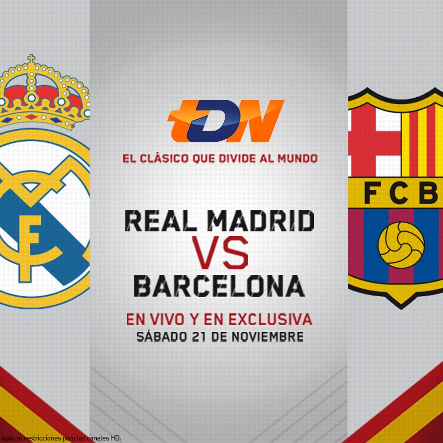 Real Madrid vs Barcelona por TDN