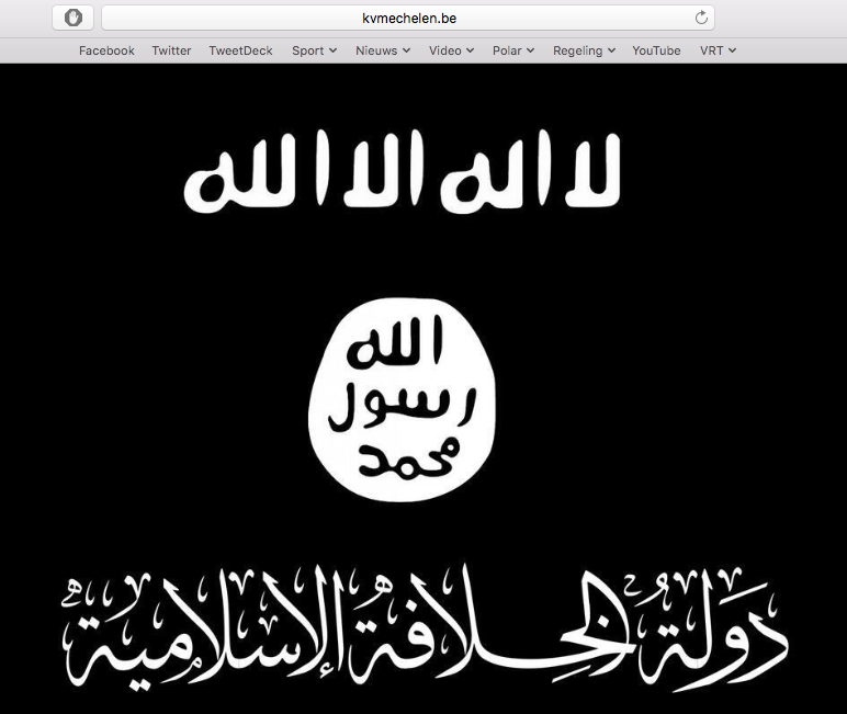 Hacker takes over the website of Belgium club KV Mechelen, uploads ISIS flag