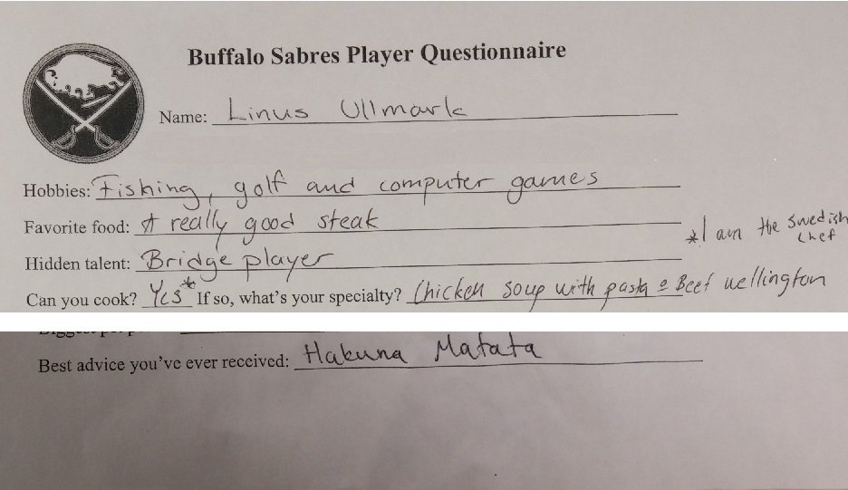 "@BillHoppeNHL That (along with ""I am the Swedish chef"") was one of his two best answers on the player survey. https://t.co/UfdXlFZhTp"