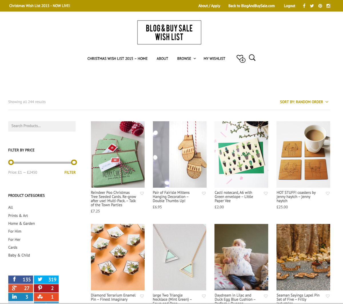 Our Christmas Wish List is now LIVE! Inc over 200 products from talented designers/makers | https://t.co/8jJR3Q4GOr https://t.co/rPnJYPrJCs