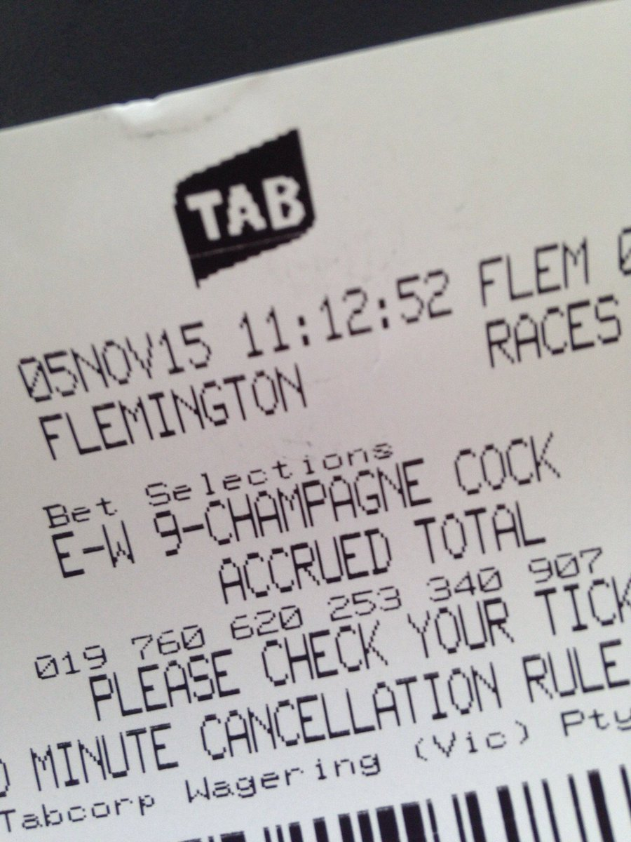 hmmm, unfortunate abbreviation from @tabcomau Flem Race 1 … oh, well it is Oaks day. https://t.co/n0FyxB730s