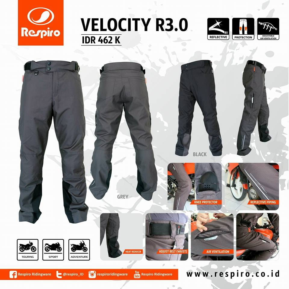 Selamat Siang All NEW ARRIVAL Riding Pant – Velocity R3.0 EA Rp 462,000 Colour: Black & Charcoalpic.twitter.com/uzeFA508QK