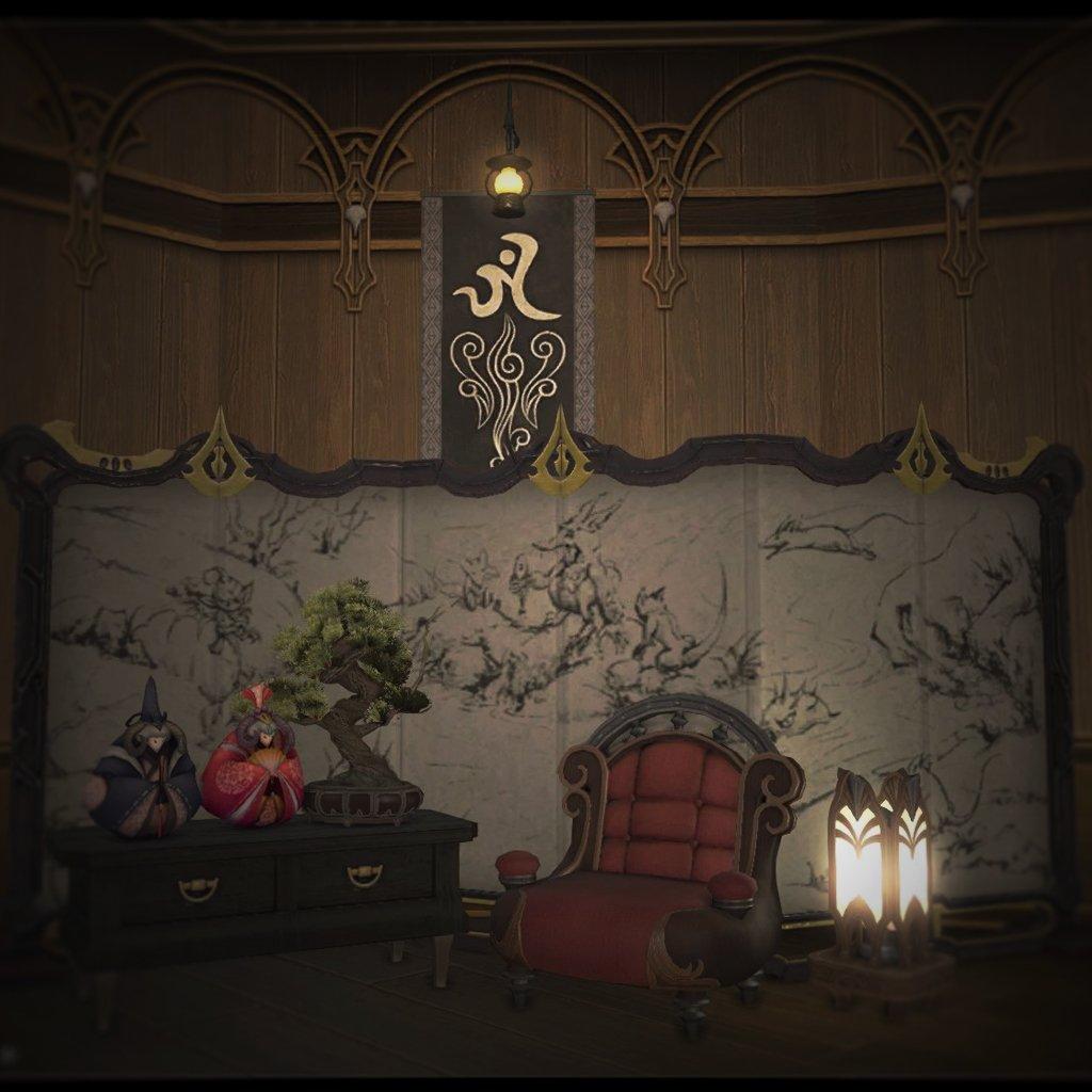 お庭は真ん中だけクリスマス。  http//jp.finalfantasyxiv.com/lodestone/character/5636627/blog/2154995/ \u2026  FF14 ff14ハウジング見せて2015秋 pic.twitter.com/