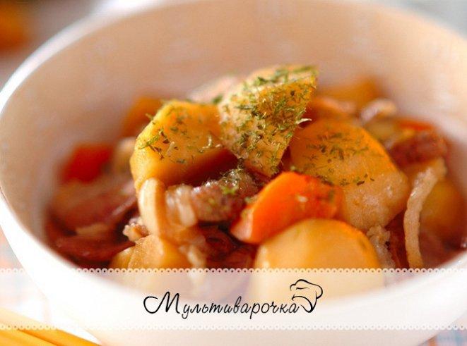 Свинина тушеная с картофелем рецепт с фото