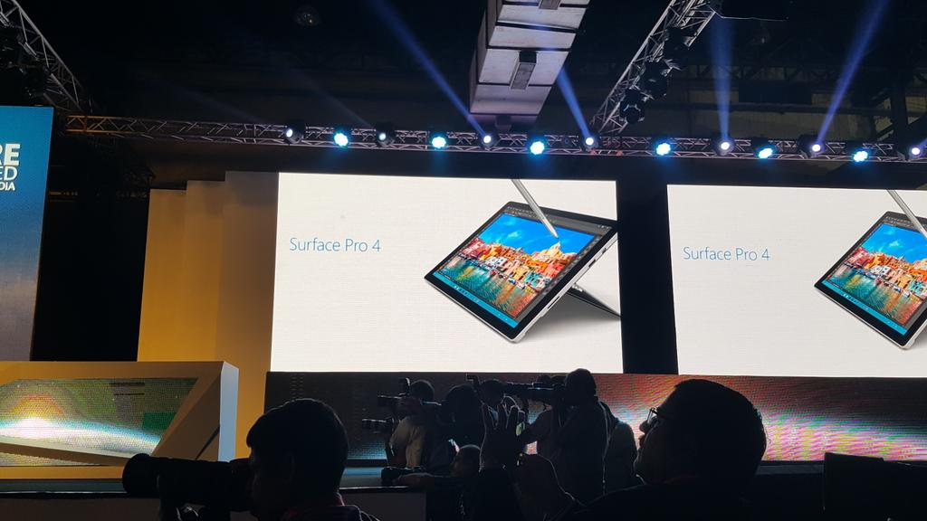 Yay finally ! Surface Pro 4 coming to India in Jan 2016 says @satyanadella ! Win! #FutureUnleashed https://t.co/E5XIZ2COOZ