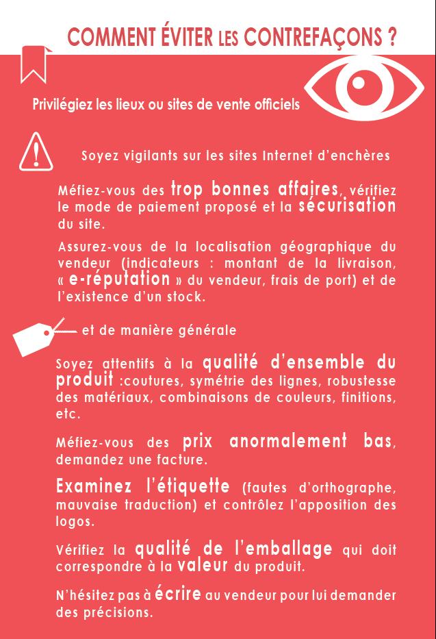 #HalteContrefaçon : nos conseils pour éviter les contrefaçons. https://t.co/l8o2rbSp8G